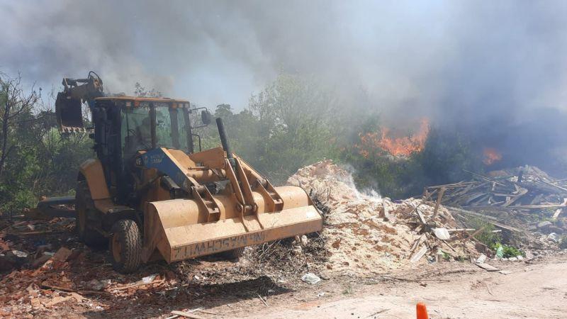 La Municipalidad de Escobar clausuró un predio donde se quemaban residuos a cielo abierto