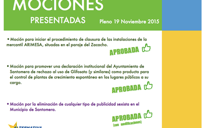 Resumen Pleno Ordinario 19/11/2015