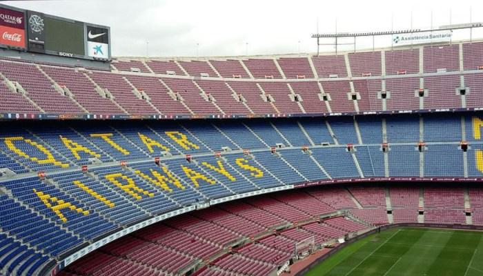 fc barcelona stadium empty