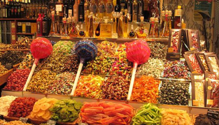 lots of candy at la boqueria