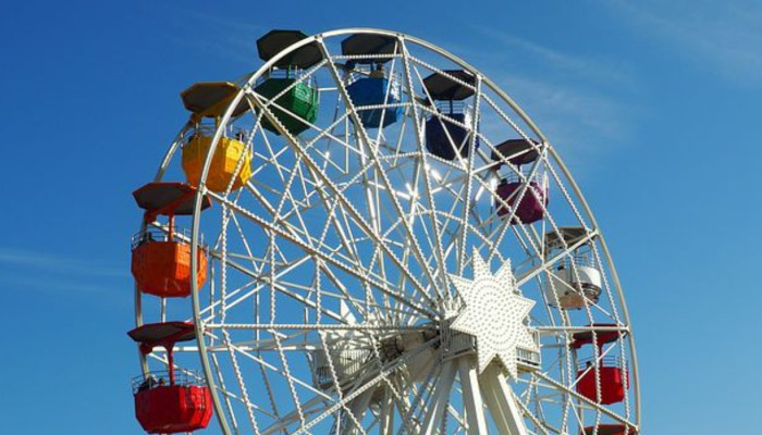 ferris wheel at tibidabo barcelona