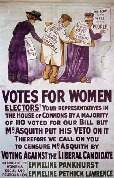 Votes for Women | Emmeline Pankhurst | Women's Social and Political Union