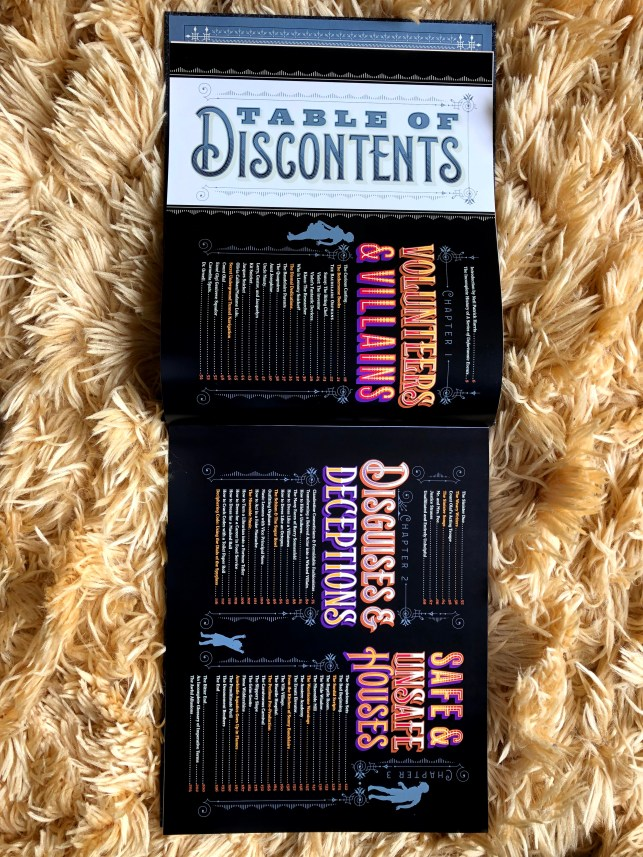 Book Beginning - The Complete History of Secret Organisations - A Series of Unfortunate Events Table of Discontents