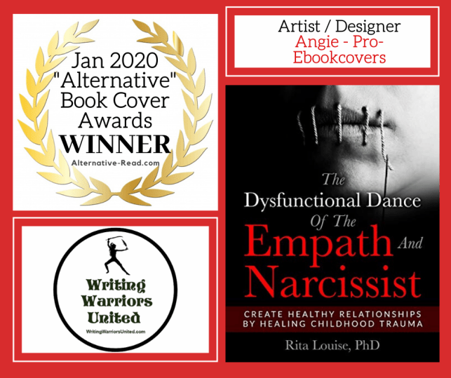 1st Place BCA WINNER - The Dysfunctional Dance of The Empath and Narcissist  by #RitaLouise #nonfiction #book #cover #award #winner