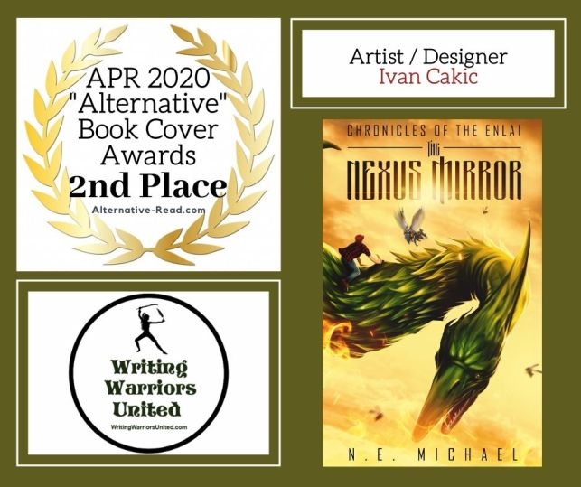 2nd Place The Nexus Mirror - Sassy Alternative Book Cover Awards April 2020