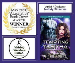 Tempting Tabitha 1st Place BCA WINNER #AltRead #Bookcover #BookCoverAwards #Winner