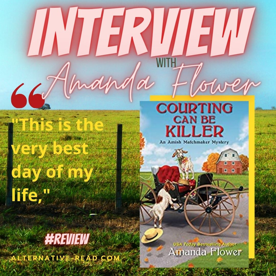 Courting Can Be killer by Amanda Flower - Instagram post