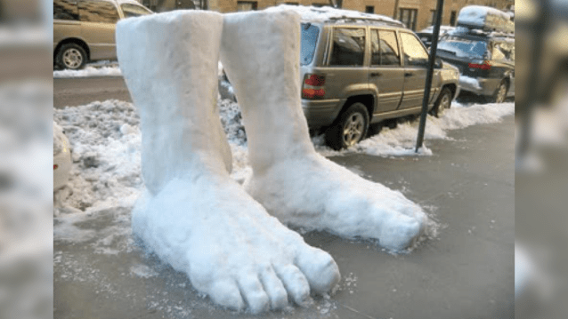 two feet of snow in new york