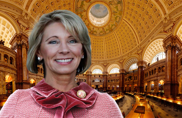 "Betsy DeVos Wants Congressional Library Renamed ""Lieberry Of Congress"""