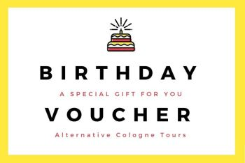 Birthday Voucher Alternative Cologne Tours – To Pint Out – 11€