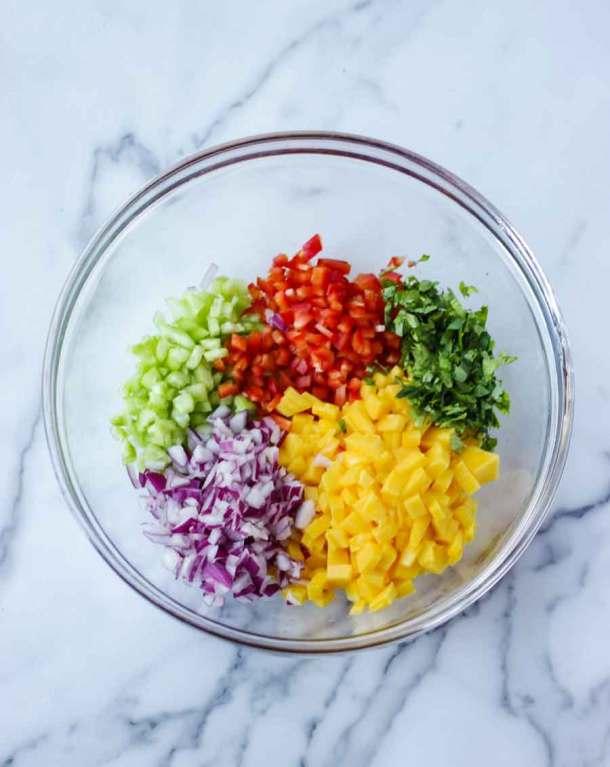 Mango Salsa Prep Bowl