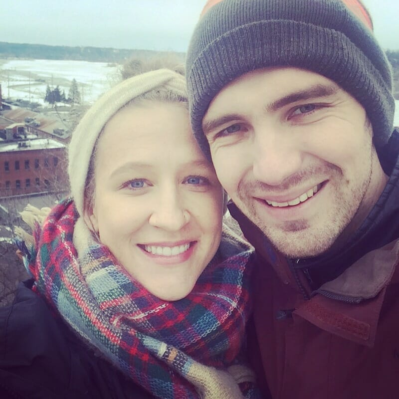 Me and hubby braving the Minnesota winter.