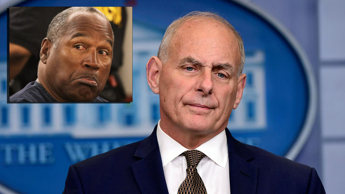 Report: John Kelly Urging OJ Simpson To Replace Rob Porter In The Trump Administration