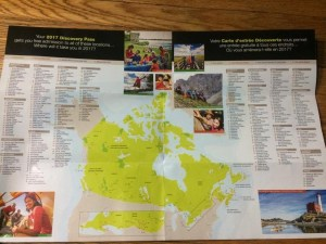 canada 150, discovery pass, canada, national parks, map