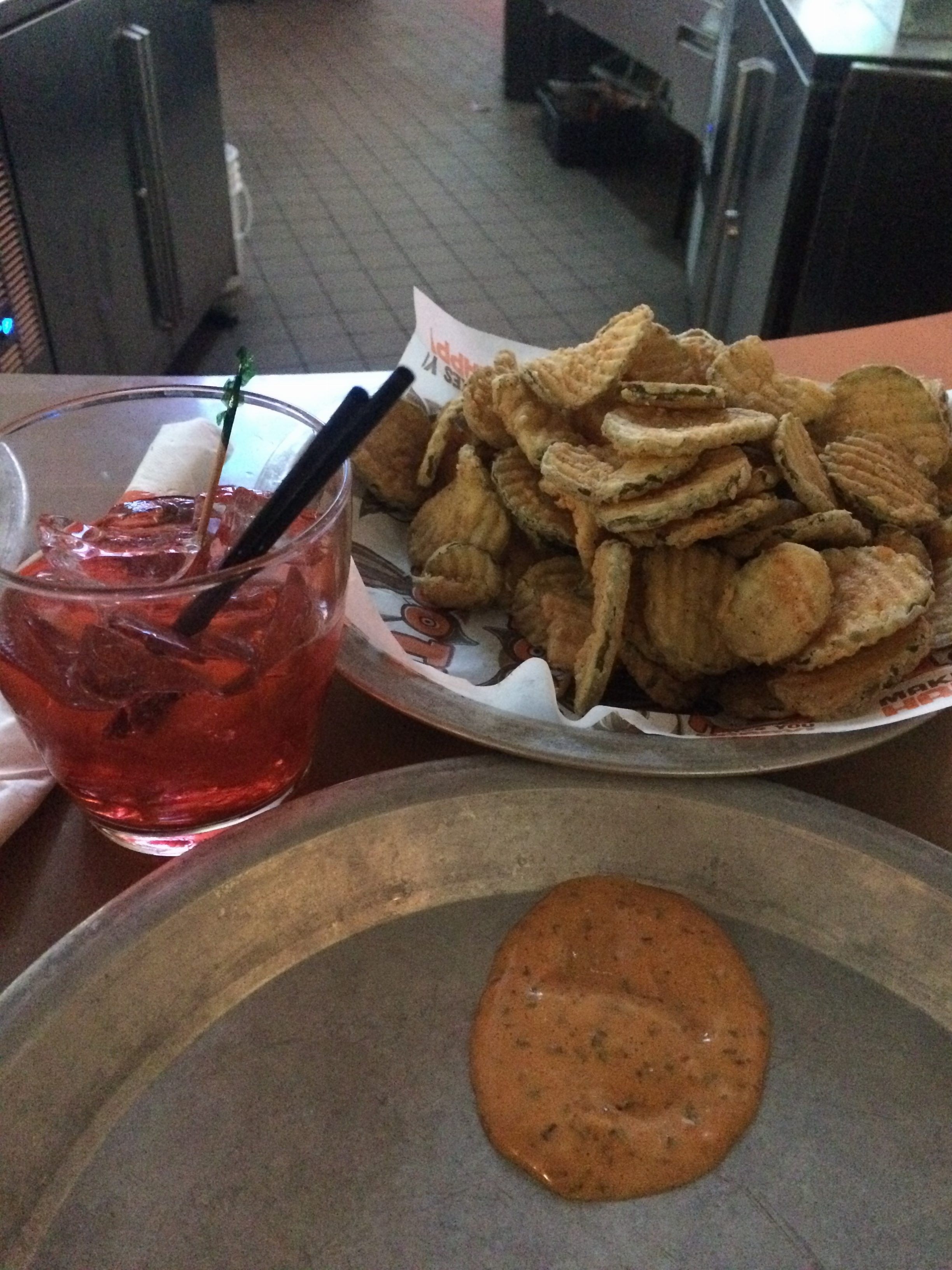 fried pickles, vodka, hooters