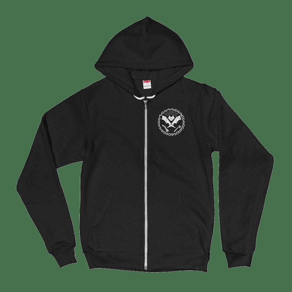 A.T. Bat Logo Black Zip-up – Alternative Tentacles Records 9df1be041e8