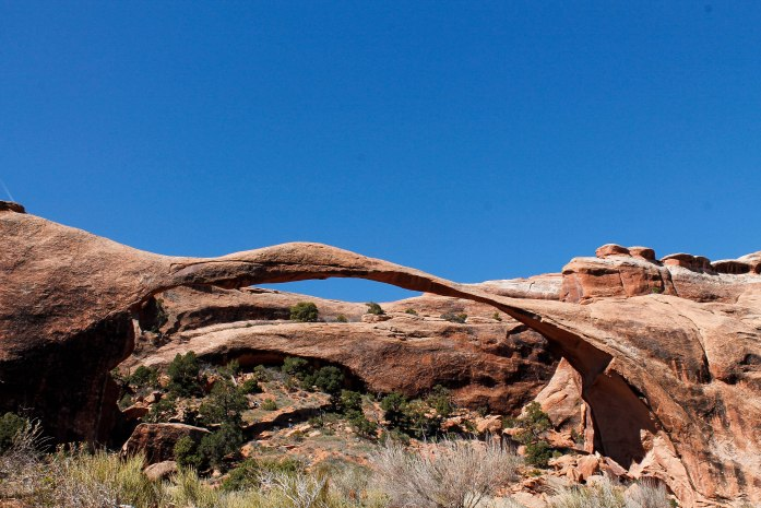 Landscape Arch, the longest arch in the park and the 5th longest in the world.