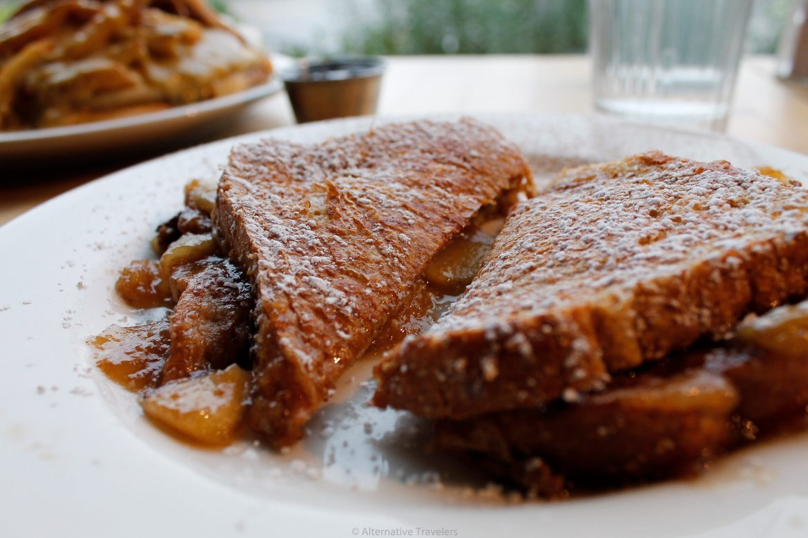 Vertical Diner french toast - best vegan breakfast in Salt Lake City