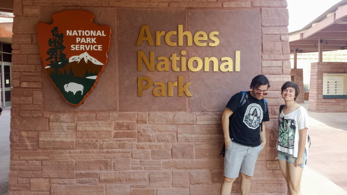 Alternative Travelers at Arches National Park, Utah