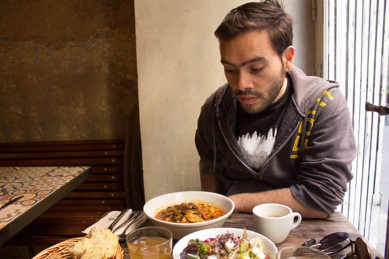 The vegan menu del dia at Vega in Madrid, Spain