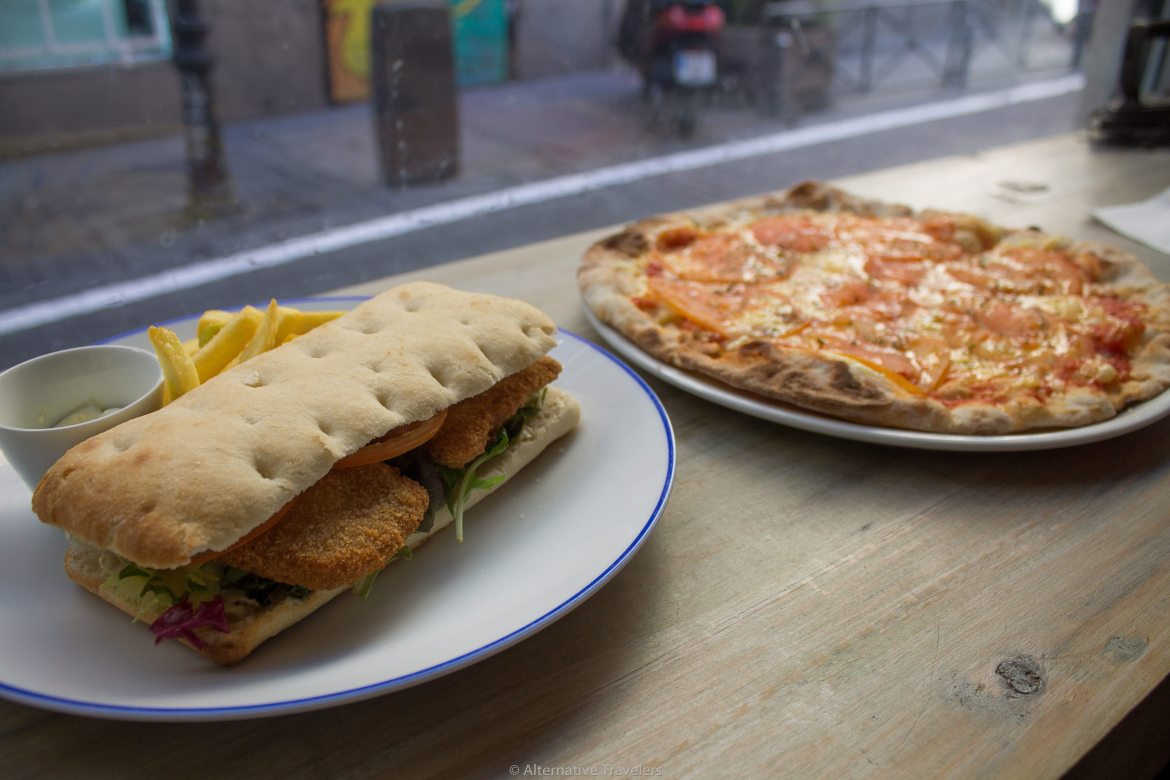 Sandwiches and vegan pizza in Madrid at Ay Mi Madre! - AlternativeTravelers.com