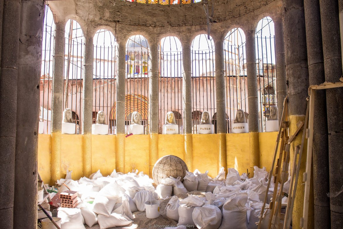 Mejorada del Campo, a small town half an hour from Madrid, is home to a unique cathedral made from recycled materials - the life's work of a former monk.