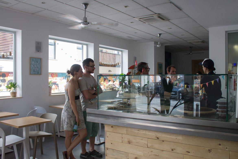 Interior of The Vurger, a vegan restaurant in Valencia