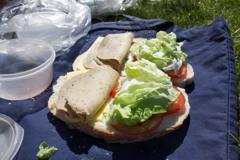 Veggie Sandwiches on Isle of Arran