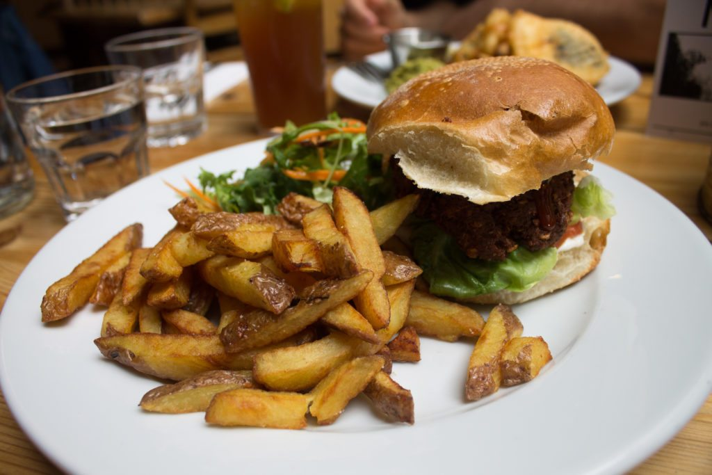 vegan burger in Glasgow at Mono