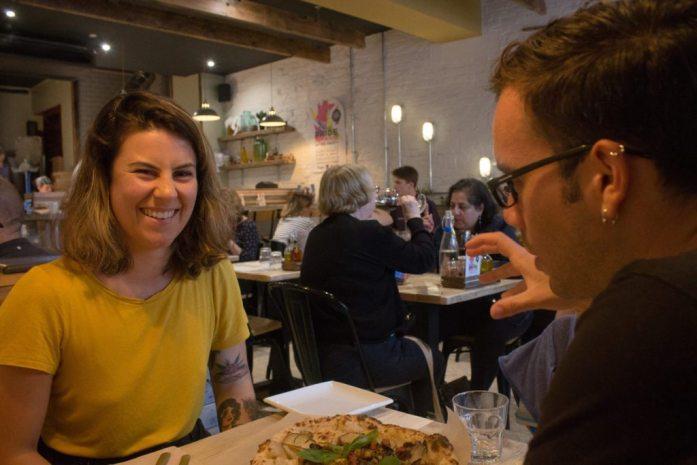 Meeting Jen May from VeganNomadLife in Brighton
