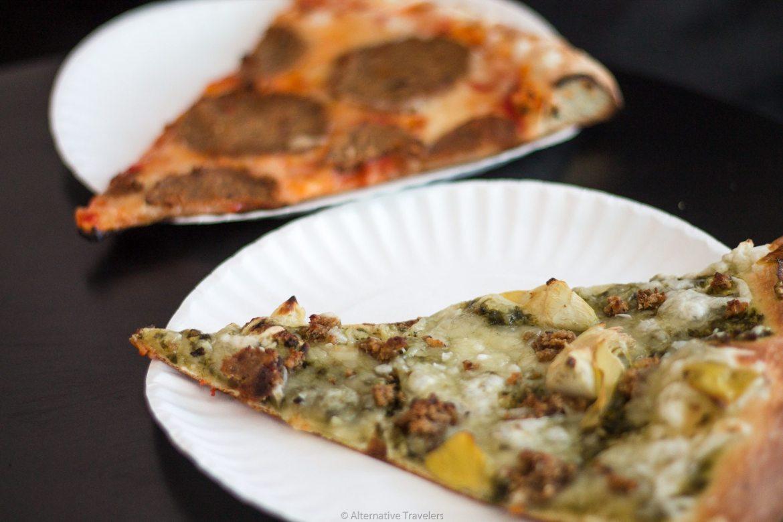 Vegan Pizza in Brooklyn at Screamer's Pizza
