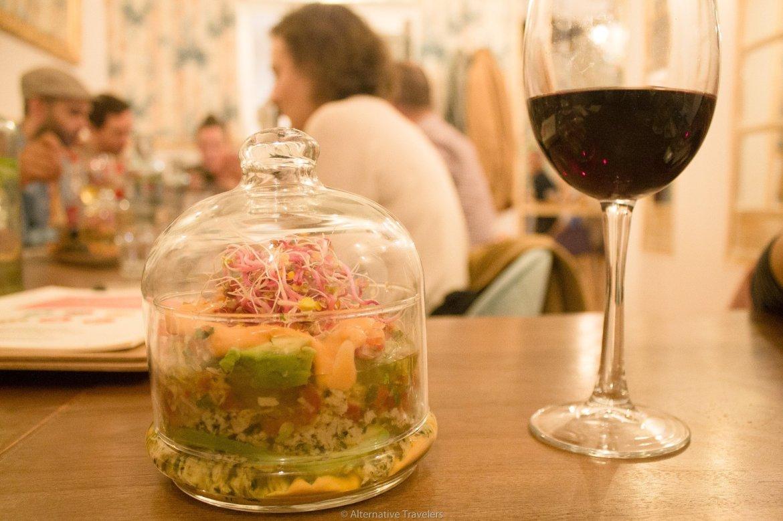 Tartare a la chilena at La Tia Carlota Vegan Gastrobar in Madrid | AlternativeTravelers.com