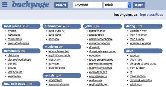 Backpage Alternatives
