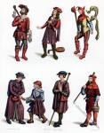 Frankreich. Kleidung Ende des 15. Jahrhunderts.