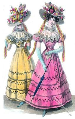 Biedermeier Kostüm. Restaurations Mode