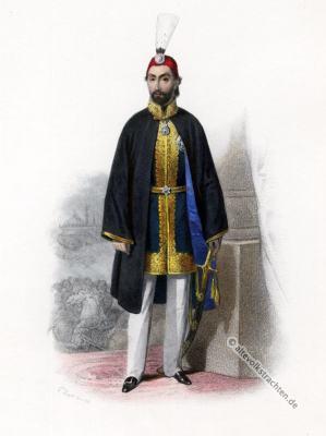 Sultan Abdülmecid I, Türkische Trachten, Osmanisches Reich, Kostüm, Kostümgeschichte, Modegeschichte