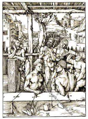 Albrecht Dürer, Männerbad, Renaissance, Homosexuell, Holzschnitt, 16. Jahrhundert