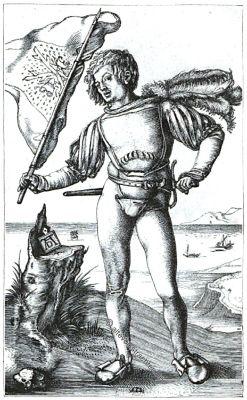 Landsknecht, Albrecht Dürer, Fahnenschwenker, Renaissance, Soldat