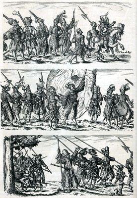 Landsknechte, Beham, Landsknechtzug, Troß, Soldaten, Renaissance