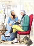 Bauersleute um 1847 aus Wallau. Herzogtum Nassau.