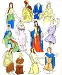 Kostüme der Gallier und Merowinger. Regierungszeit von Clovis.