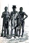 Felup Typen aus Gambia, Senegal, Westafrika um 1878.
