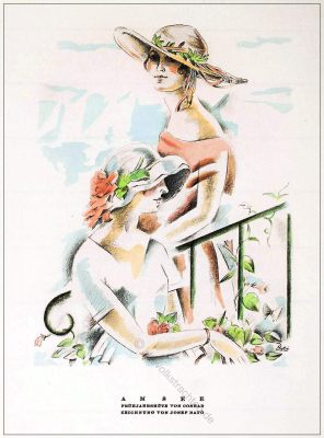 Frühjahrshüte, Josef Bato, Hutmode, STYL, Modemagazin, 1920er, Modegeschichte, Art deco,