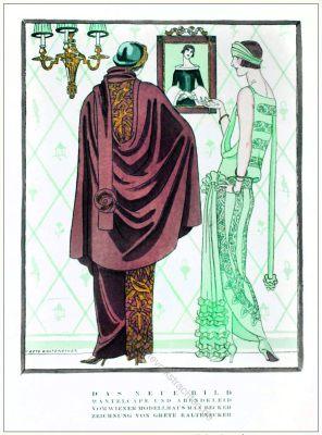 Mantelcape, Abendkleid, Max Becker, Wien, STYL, Modemagazin, 1920er, Modegeschichte, Art deco,