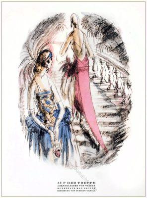 Abendkleider, Max Becker, Schmidt-Caroll, Wien, Kostüme, STYL Modemagazin, 1920er, Modegeschichte, Art deco,
