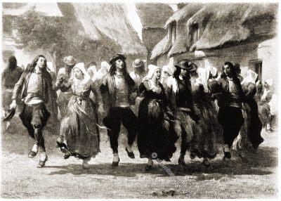 Tanz, Bretagne, Brittany, Trachten, Sabine Baring-Gould,
