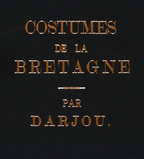 Costumes, Bretagne, Book, cover,