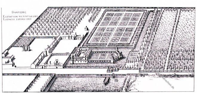 Dampierre, Cerceau, Kupferstich, Rennaisance, Architecture, August Grisebach,