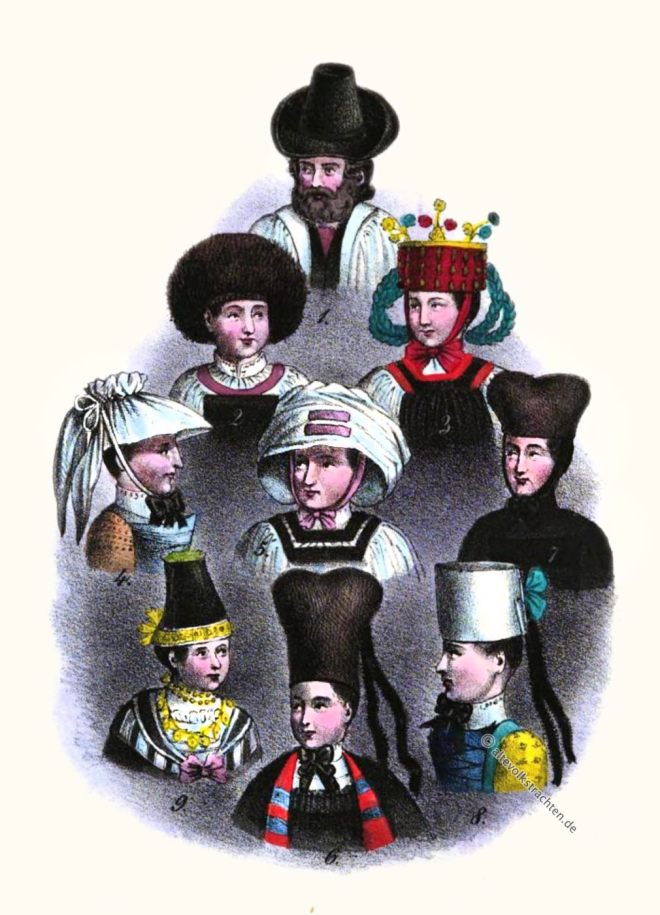 Hormtjungfern, Altenburg, Sachsen-Altenburg, Thüringen, Trachten, Kopfschürze, Bauerntrachten, Bartelchen, Wenden