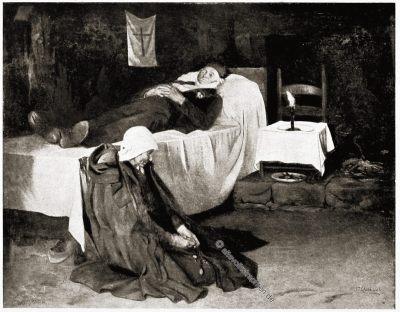 Seemann, Witwe, Bretagne, Brittany, Trachten, Sabine Baring-Gould,